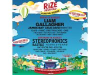 RiZe Festival Friday Day Ticket - Liam Gallagher, James Bay, Craig David, Manic S-P, Disciples &more