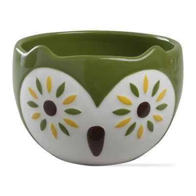 204754 Green Oscar Owl Snack Dip Bowls Holiday Halloween Christmas Party Hoot