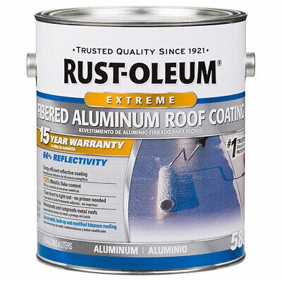 Rust-Oleum 301905 15 Year Fibered Aluminum Roof Coating gal ()