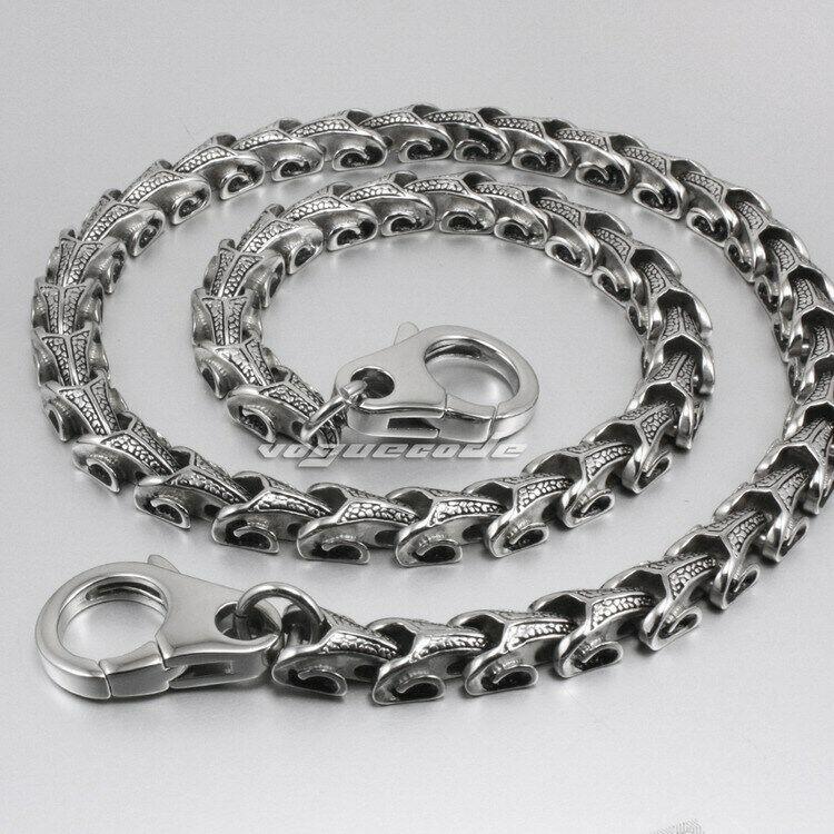 """16"""" ~ 36"""" 316L Stainless Steel Dragon Mens Biker Rocker Wallet Chain 5A001WCA"""