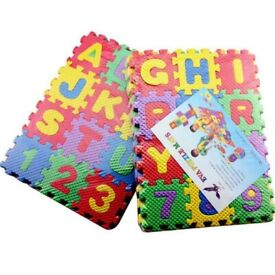 Kids Colourful Foam Alphabet & Numbers Soft Jigsaw Puzzle Play Learning Mat
