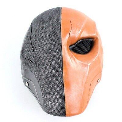 Deathstroke Mask Helmet Arkham Origins Halloween Cosplay Face Mask Masquerade (Deathstroke Mask Halloween)