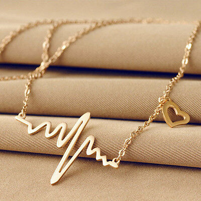 Free Shipping Grey's Anatomy inspired heartbeat necklaces