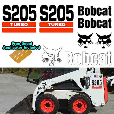 Used, Bobcat S205 TURBO Skid Steer Set Vinyl Decal Sticker 7 PC SET + DECAL APPLICATOR for sale  Shipping to Canada