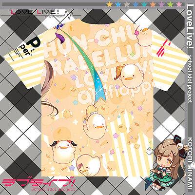 Kotori Minami Anime Unisex Tee Leisure Full Color Casual Tops T-Shirt LoveLive