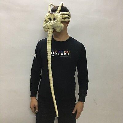 Alien Props For Halloween (Alien Facehugger Mask Latex Figure Cosplay Props Halloween Mask for)