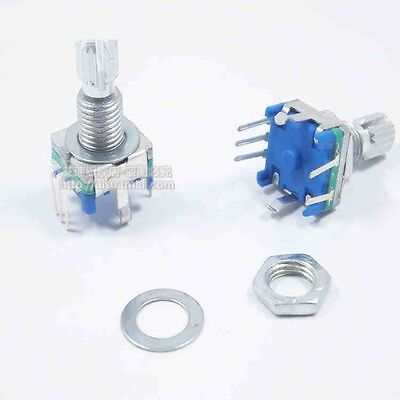 10pcs Rotary Encoder With Switch Ec11 Audio Digital Potentiometer 15mm Handle S