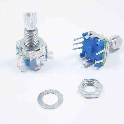 2pcs Rotary Encoder With Switch Ec11 Audio Digital Potentiometer 15mm Handle M