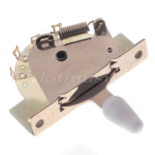 white vintage 5 way lever switch for fender guitar parts replacement ebay. Black Bedroom Furniture Sets. Home Design Ideas