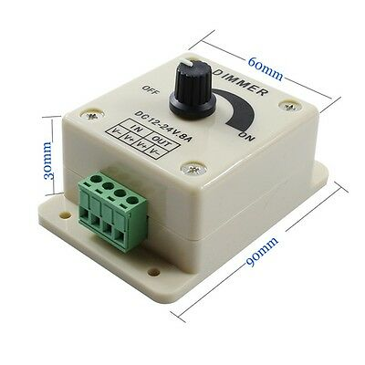 12v 8a Pir Sensor Led Strip Light Switch Dimmer Brightness Controller Power
