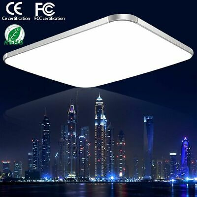 6000K Cool White LED Ceiling Light Flush Mounted Kitchen Living Bathroom Lamp (Square Bathroom Lights)