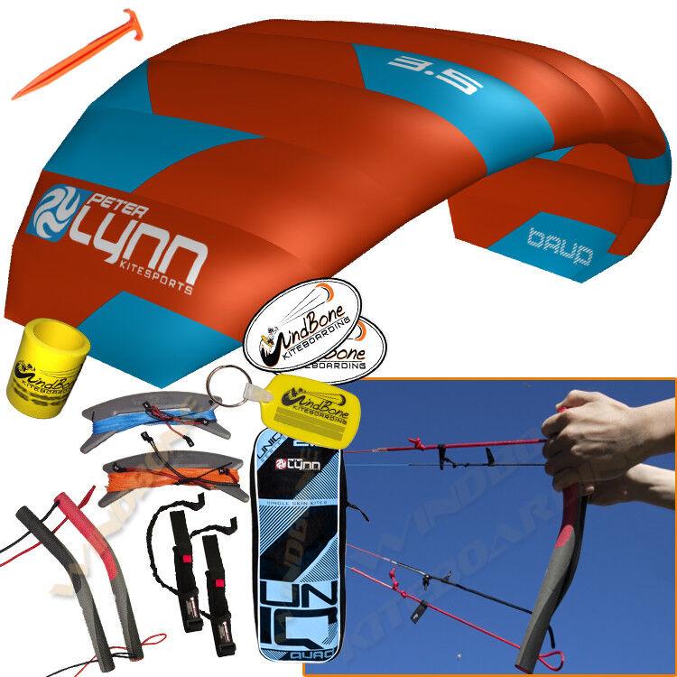 Peter Lynn UNIQ Quad 3.5M 3.5 Meter Single Skin Power Foil Kite 4-Line Handles