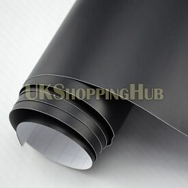 Matt Black Vinyl Car Wrap Sticker (Air/Bubble Free) All Sizes