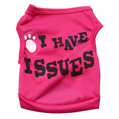 XS/S/M/L Girl Dog Clothes Female Pet Puppy Vest T Shirt Apparel Costume Summer - Girl Dog Costumes
