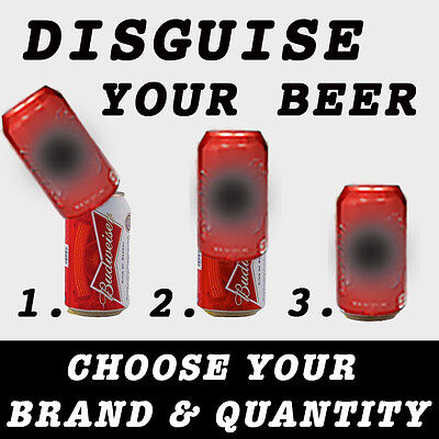 3 PACK HIDE A BEER CAN SODA COVERS CAMO WRAP SLEEVES DISGUISE (Beer Covers)