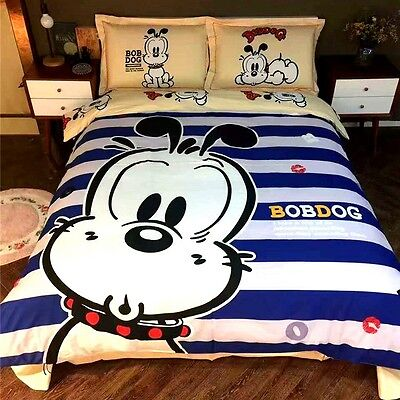 Dog Twin Queen & King Size Duvet Cover Bed Sheet Bedding Set