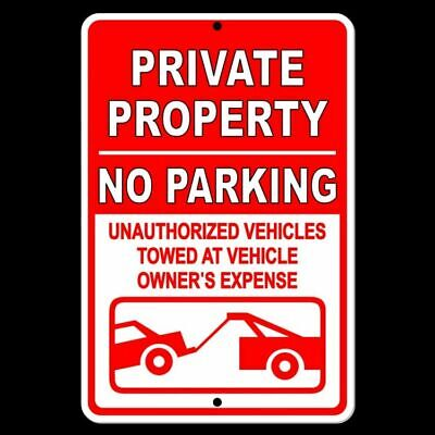 Private Property No Parking Violators Towed At Owners Expense Sign Metal Spp007