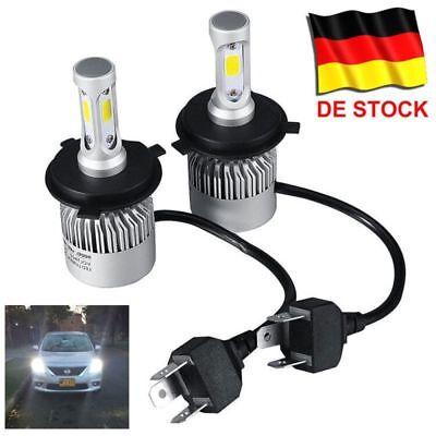 H7 H4 COB LED Scheinwerfer Birnen hohes Abblendlicht Leuchte Lampe Weiß 6000K DE