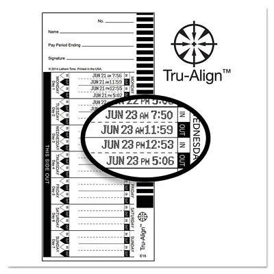 Lathem Time Time Card for Lathem Model 1600E 16100