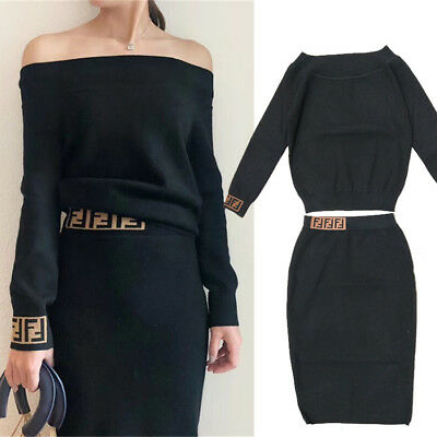 2018 Winter Women Sweater+Skirt Suits 2/PCS Female Knitting Dress Sets Wholesale - Wholesale Womens Suits
