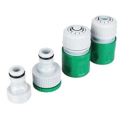 Gartenschlauch Adapter, 4 Teilig, Schlauch, Wasserschlauch, Wasserhahn Stecker