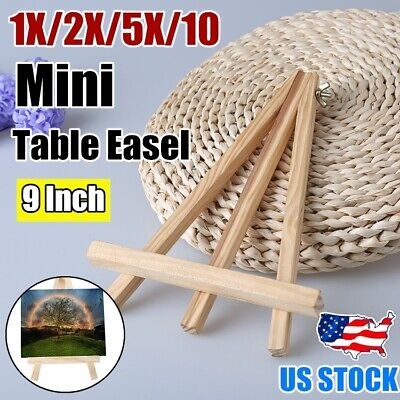 Mini Easel Stand (1-10X Mini Artist Wooden Table Top Easel Wedding Stand Display Tripod Holder)