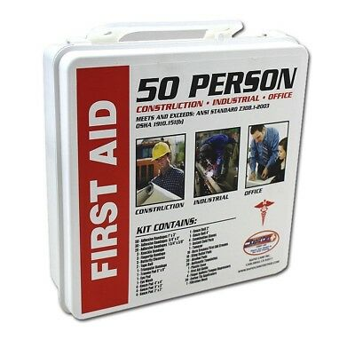 - 50 Person First Aid Kit 232pc OSHA ANSI Home Office Warehouse Construction NEW
