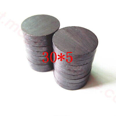 Wholesale 30mm X 5mm Black Strong Round Disc Magnet Ferrite Y30bh Magnets