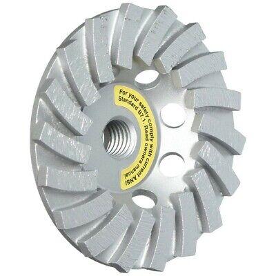 Mk Diamond 4.5 Turbo Cup Concrete Grinding Wheel W 58-11 Threaded Arbor
