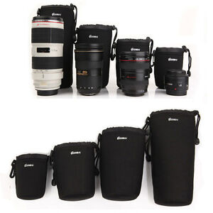 4PC-Camera-Lens-Protector-Pouch-Case-Insert-Bag-Cover-XL-L-M-S-Canon-Nikon-DSLR