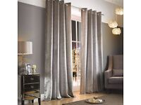 Kylie Minogue Adelphi Eyelet Curtains - Mist - Almost New