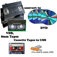 VHS, 8 mm to DVD conversion cassette tape to USB