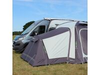 Movelite T1 driveaway low-midline air awning, 2 x bedroom annex & snug rug carpet