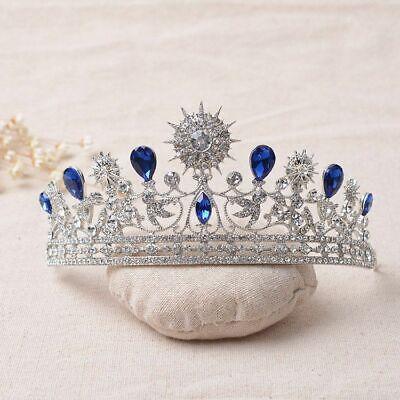 Tiara Cristal Estrás Novia Boda Concursos de Belleza Reina Diadema Corona Pelo