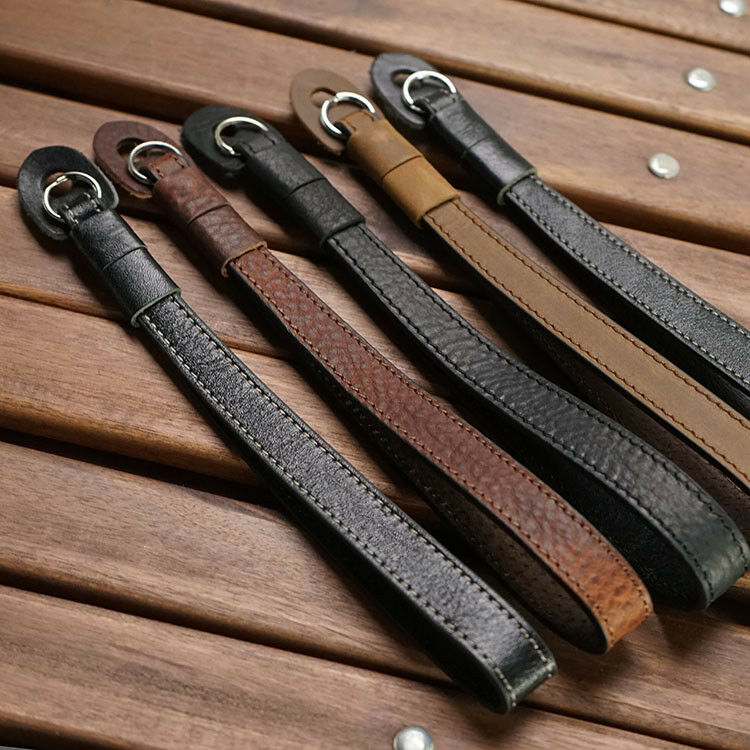 Handmade Genuine Leather Camera Wrist Strap For FUJJI Leica Canon Nikon Sony