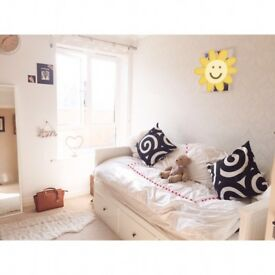 IKEA White Day Bed with Storage