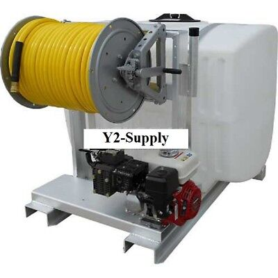 New 200 Gallon Skid Sprayer 5.5hp6500c Pump 150 Of 38 Hose Manual Reel