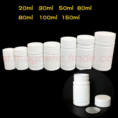 Empty Plastic Capsule Pill Cylinder Bottle Medicine Container Vitamin 20ml-150ml - Plastic Cylinder Container