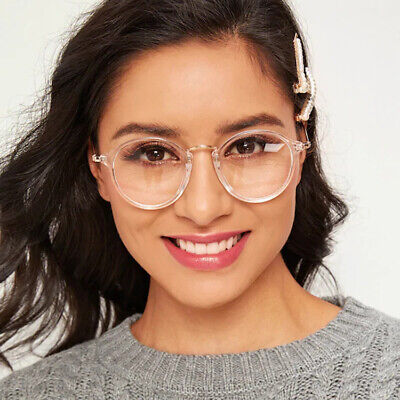 New Designer Woman Retro Look Round Glasses Anti Blue Light Filter Optical Frame