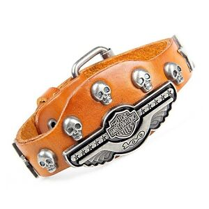 HARLEY DAVIDSON LEATHER BRACELETS - MANY TO CHOOSE FROM London Ontario image 3