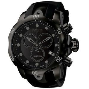 Invicta-Men-039-s-Venom-Swiss-Quartz-Chrono-1000m-Black-Stainless-Steel-Watch-6051
