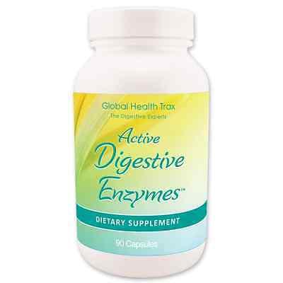 Global Health Trax Active Digestive Enzymes  90 Vegi Caps