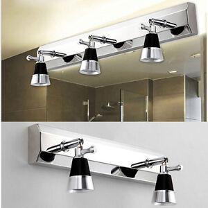 Nuevo 3w led aplique pared entrada ba o luces tocador l mpara de espejo 7002 ebay - Lampara espejo bano ...