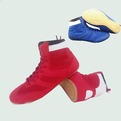 Mens Womens Boxing Boots MMA Gym Wrestling Shoes Trainers High top Athletic Gift](Mens Wrestling Boots)