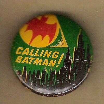 "Vintage Pinback Button Pin Badge 1966 Batman 1"" Collection  Batman ""Bat Signal"""