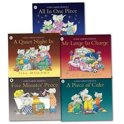 Large Family Collection Jill Murphy 5 Books Set Children illustrated Flats NEW