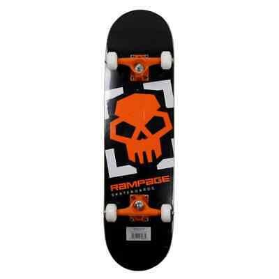 Rampage Skateboards Locked auf Totenkopf Anfänger Komplett 20.3cm x 78.7cm