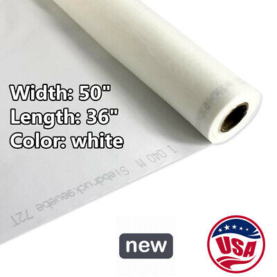 Us Stock 120 Mesh Silk Screen Printing Mesh Fabric 40t 1 Yard 50 Inches Width