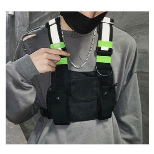 Style Reflective Tactical Chest Rig Bag Nylon Pouch Purse Hi