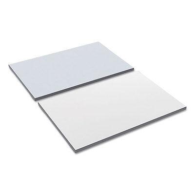 Alera Reversible Laminate Table Top Rectangular 35 38w X 23 58d Whitegray